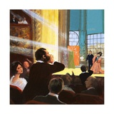First Performance of Madame Butterfly Giclee Print by Ralph Bruce