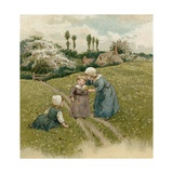 Children of the Pilgrim Fathers Giclee Print by  English School
