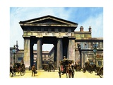 The Classical Portico of the Old Euston Station Giclee Print by Harry Green