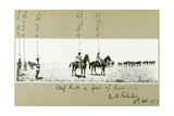 Staff Ride in Front of Beersheba, South Palestine, October 1917 Giclee Print by Capt. Arthur Rhodes