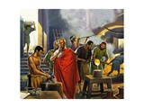 Roman Glass Factory Giclee Print by Severino Baraldi
