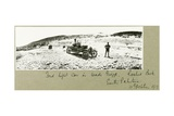 Ford Light Car in Wadi Guzzeh, Rashid Beck, South Palestine, October 1917 Giclee Print by Capt. Arthur Rhodes