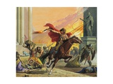 Barbarians at the Gate Giclee Print by Severino Baraldi