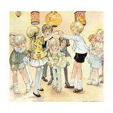 Oranges and Lemons, Say the Bells of Saint Clement's Giclee Print by Anne Anderson
