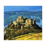 Chateau Gaillard Giclee Print by Harry Green