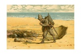 Robinson Crusoe Sees the Beach Strewn with Human Skulls and Human Bones Giclee Print by Carl Marr