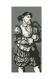 King Henry VIII with Tennis Racket Giclee Print by Richard Hook