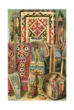 Culture of the Mongols: Fabrics and Designs Giclee Print by  North American