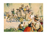 A Carriage on the Road Between Paris and Versailles in 1787 Giclee Print by Eric Parker