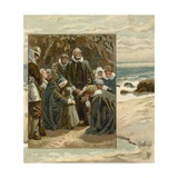 Prayers of the Pilgrim Fathers Giclee Print by  English School