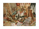 Indonesian Culture: Fabrics and Weapons of the Malays Giclee Print by  North American