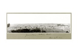 Jerusalem Looking West, 14th December 1917 Giclee Print by Capt. Arthur Rhodes