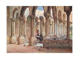 The Cloisters, Monreale Giclee Print by Alberto Pisa