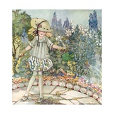 Mistress Mary, Quite Contrary, How Does Your Garden Grow Gicleetryck av Anne Anderson