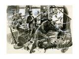 Battle for Mount Street Bridge, Dublin, April 1916 Giclee Print by  English School