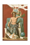 Zeus Crowned by Victory Giclee Print by Etienne Ronjat