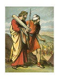Moses and Joshua Seeing the Golden Calf Giclee Print by  English School