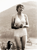 Eva Braun in Her Bathing Suit at the Berghof, Hitler's Residence, 1940 Photographic Print by  German photographer