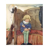 Little Jack Horner Sat in a Corner, Eating a Christmas Pie Giclee Print by Anne Anderson