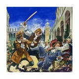 John Dryden Being Attacked Giclee Print by Leo Davy