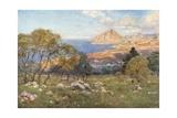 Monte Cofano from Portarella, Trapani Giclee Print by Alberto Pisa