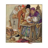 The King Was in His Counting-House, Counting Out His Money Gicléetryck av Anne Anderson