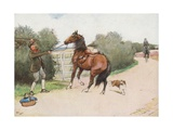 Then the Boy Got Off and Gave Him a Hard Thrashing Giclee Print by Cecil Charles Windsor Aldin