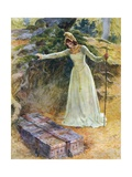 The Princess Came to the Iron Chest Giclee Print by William Henry Margetson
