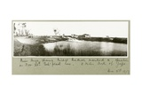 River Auja, Showing Khirbet Hadrah, 3rd December 1917 Giclee Print by Capt. Arthur Rhodes