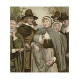 Pilgrim Fathers Giclee Print by  English School