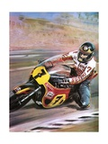 Motorcycle Racing Giclee Print by Graham Coton