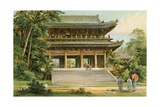 Culture of the Asiatic Mongoloids: Japanese Temple Giclee Print by  North American