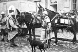 Red Cross Wagon During WWI Photographic Print by  English Photographer