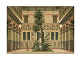 Courtyard of an Egyptian House Giclee Print by Dionisio Baixeras-Verdaguer