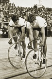Toni Merkens and Albert Sellinger Starting the 1000 Metre Bike Race at the Berlin Olympic Games,… Reproduction photographique par  German photographer