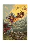 The Ascent of Elijah Giclee Print by  North American
