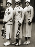 Aileen Riggin, Gertrude Ederle, Helen Wainwright, Three American Olympic Swimming Champions, 1924 Photographic Print by  American Photographer
