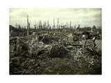 Buildings and Trees Destroyed by Artillery Fire, Chaulnes, Somme, France, 1917 Giclee Print by Fernand Cuville