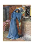 O Magic Mirror on the Wall, Who Is the Fairest Lady of All Giclee Print by William Henry Margetson