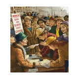 Women Volunteers for Work in World War I Giclee Print by  English School
