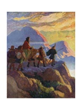 Helen Descends the Glen of Stones Giclee Print by Newell Convers Wyeth