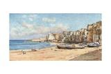 Port of Cefalu Giclee Print by Alberto Pisa