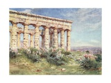 Temple of Segesta Giclee Print by Alberto Pisa