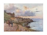 Cefalu: Sunset Giclee Print by Alberto Pisa