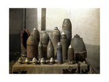 Collection of Unexploded German Shells, Reims, Marne, France, 1917 Giclee Print by Fernand Cuville