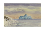 Berg Off Cape Evans, April 23, Last Day of the Sun, 1911 Giclee Print by Edward Adrian Wilson