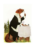 "'Lord Otter', 1913 Giclee Print by M.T. ""Penny"" Ross"