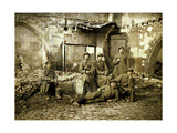 Group of Russian Soldiers in the Ruins, Reims, Marne, France, 1917 Giclee Print by Fernand Cuville