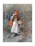 She Heard a Gruff Voice Say, 'Good-Morning, Little Girl' Giclee Print by William Henry Margetson