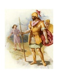 David and Goliath Giclee Print by John Lawson